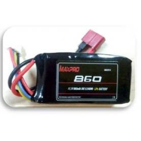 MAXPRO LIPO 30C 11,1V 860MAH 3S