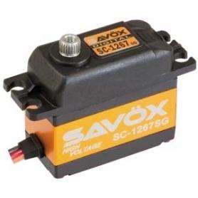SAVOX SC-1267 HV Ultra Speeed, servo digital, coreless, alu case, 2BB, 21 kg 0,095sec, 7,4V, 62gr