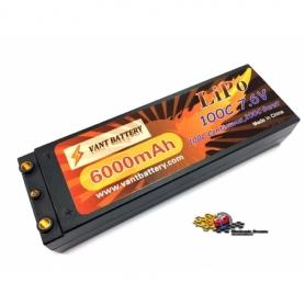 VANT Batteria LiPo 7,6v 6000mha 100C HV HARD CASE High Voltage