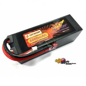 VANT Batteria LiPo 14,8v 6000mha 75C cavetto Deans HARD CASE