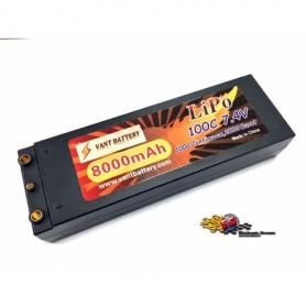 VANT Batteria LiPo 7,4v 8000mha 100C HARD CASE