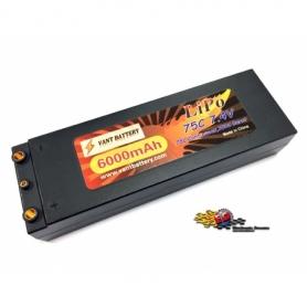 VANT Batteria LiPo 7,4v 6000mha 75C HARD CASE