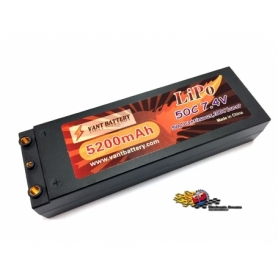 VANT Batteria LiPo 7,4v 5200mha 50C HARD CASE