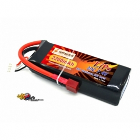 VANT Batteria LiPo 7,4v 2200mha 30C cavetto Deans SOFT CASE