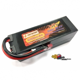 VANT Batteria LiPo 15,2v 6000mha 100C HV cavetto Deans HARD CASE High Voltage
