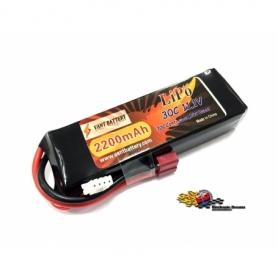 VANT Batteria LiPo 11,1v 2200mha 30C cavetto Deans SOFT CASE