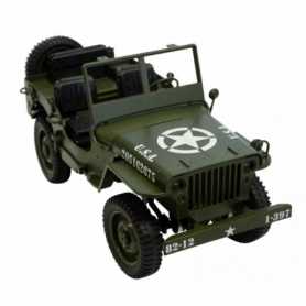 JEEP MILITARE 1/10 RC VERDE U.S.A. CH 606V