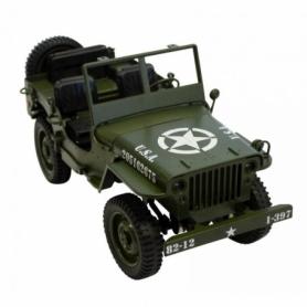 JEEP MILITARE 1/10 RC GRIGIA U.S.A. CH 606V
