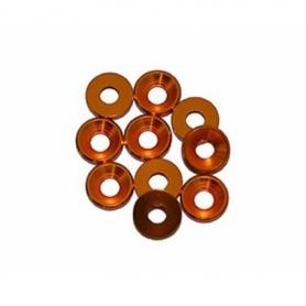 Rondella conica alluminio m3 oro (10)