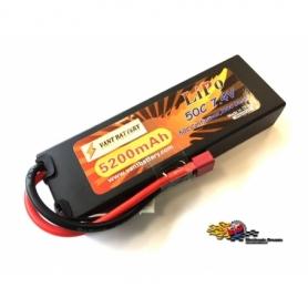VANT Batteria LiPo 7,4v 5200mha 50C cavetto Deans HARD CASE