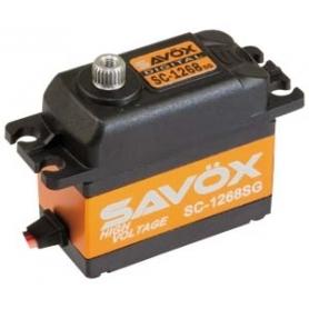 SAVOX SC-1268 HV Ultra Torque, servo digital, coreless, alu case, 2BB, 26 kg 0,11sec, 7,4V, 62gr