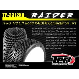 TPRO RAIDER ULTRA SOFT T5 - Treno Gomme 1/8 Off-Road con inserti (4)