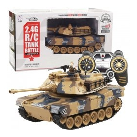 CARRO ARMATO 1/18 2.4G r/c tank with smoking & bb bullte shooting