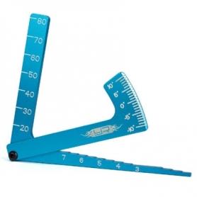 Yeah Racing misuratore camber / altezza telaio / altezza gomme BLU