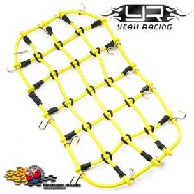 Yeah Racing Rete elastica per bloccaggio attrezzature su portapacchi GIALLA 200x110mm.