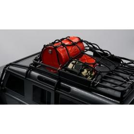 Yeah Racing Rete elastica per bloccaggio attrezzature su portapacchi NERA 250x150mm. x TRAXXAS TRX-4