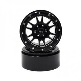 Yeah Racing Cerchi 2.2 x SCALER in Alluminio CNC 12 Raggi NERI BEADLOCK (2)