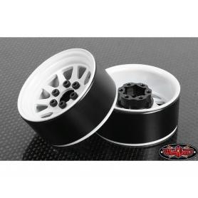 "RC4WD 5 Lug Wagon 1.9"" Steel Stamped Beadlock Wheels (White) 4 PZ"