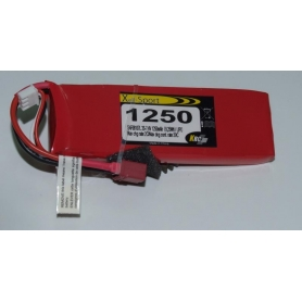 Lipo Xell-Sport 7.4V 1250MAH 2S 30C