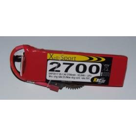 Lipo Xell-Sport 7.4V 2700MAH 2S 30C