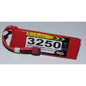 Lipo Xell-Sport 7.4V 3250MAH 2S 30C
