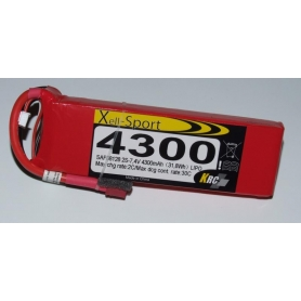 Lipo Xell-Sport 7,4V 4300MAH 2S 30C