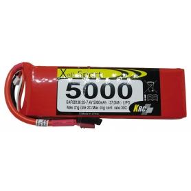 Lipo Xell-Sport 7,4V 5000MAH 2S 30C