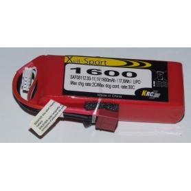 Lipo Xell-Sport 11.1V 1600MAH 3S 30C
