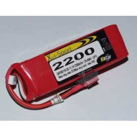 Lipo Xell-Sport 11.1V 2200MAH 3S 30C Dea