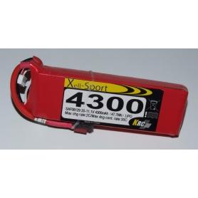 Lipo Xell-Sport 11,1V 4300MAH 3S 30C