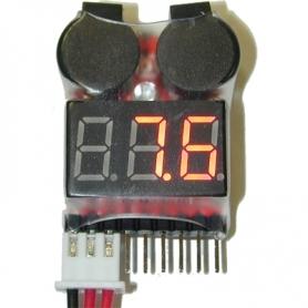 EV-LiPo Alarm avvisatore acustico stato LiPo + indicatore voltaggio 2S-8S
