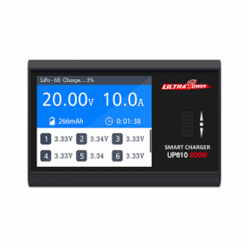 Ultra Power UP610 TFT Pocket Charger 200W 10A.