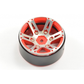 FASTRAX Cerchi 1.9 x SCALER in Alluminio CNC 6 Raggi HeavyWeight SPLIT BEADLOCK (4) ROSSO