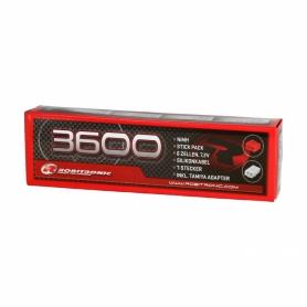 Robitronic Stick Pack NiMh 7.2v 3600mha con spinetta Tamiya & T-plug