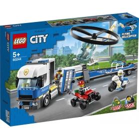 LEGO 60244 TRASPORTATORE ELECOTTERI POLIZIA