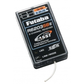 RICEVENTE FUTABA RX R6203SBE 2,4G BUS 3CH INDOOR