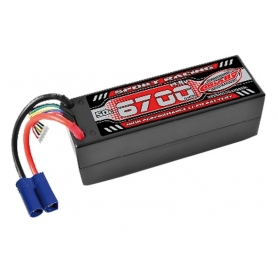BATTERIA LIPO TEAM CORALLY 50C 6700Mah 14,8V EC5 HC