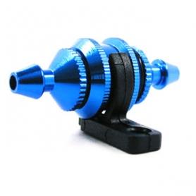 filtro miscela round type piccolo con supporto colore blu