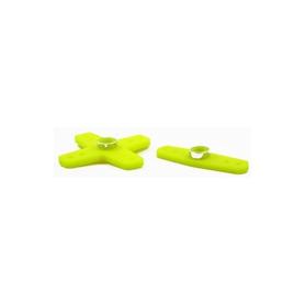 squadrette servo rinforzate x futaba (2pz) giallo