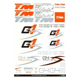 g4 s-class foglio adesivi grande (295x210)