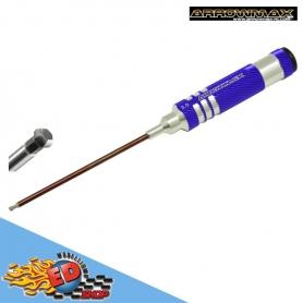 arrowmax cacciavite esagonale 3.0mm sferico con impugnatura in alluminio viola stelo da 120mm