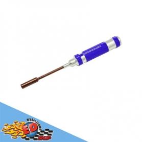 arrowmax cacciavite a tubo per dadi 7.0mm con impugnatura in alluminio viola