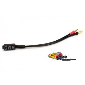 core-rc misuratore di voltaggio per batterie lipo 1s-6s con cavo e plug 4/5mm