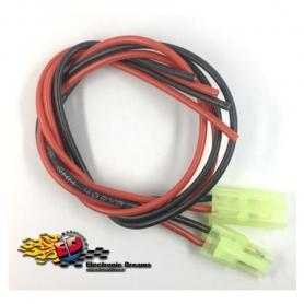 cavetti con connettore mini-tamiya (mini-jst) m/f con cavo silicone 30cm