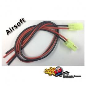 cavetti con connettore mini-tamiya (mini-jst) m/f con cavo silicone 30cm con polarita' soft-air