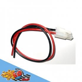 connettore tamiya maschio con cavetto rosso nero in silicone