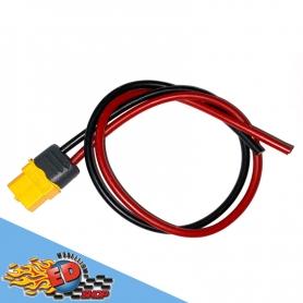 connettore xt60 femmina con cavetto rosso nero in silicone