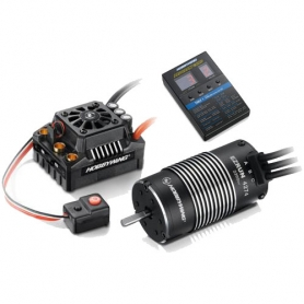 ezrun combo max8 v3 150a. + ezrun-sl-4274-2200 + pc - regolatore con connettori xt90 + motore sensorless + program card led - 1/