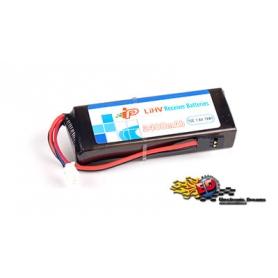 intellect 2400/1c 2s-sq flat batteria lipo hv rx/tx 7.6v. 85x30x18mm