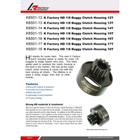 k-factory campana pignone 16 denti hd 1/8 buggy